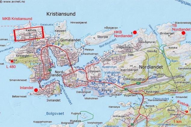 9 Carte Kristiansund